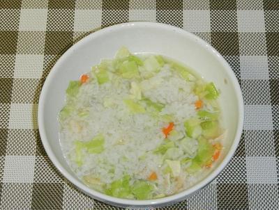 キャベツのおじや(雑炊)