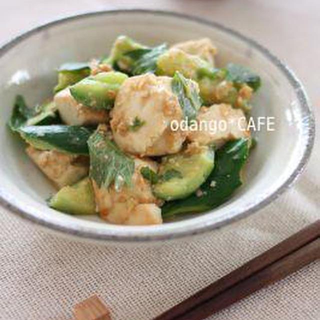 きゅうりと豆腐の味噌チャンプルー