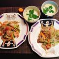 米麺を切らして・・・蝦子麺deエスニック焼きそば♪