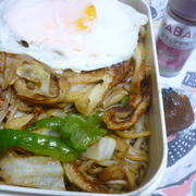 スパイシー!焼きそばのお弁当★(枝豆の重さは??)