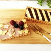 スライス生チョコレートでかんたん&かわいいレアチーズタルト
