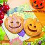 ホットケーキミックスで簡単ハロウィンお菓子♪かぼちゃのサブレクッキー♡ジャックオーランタン