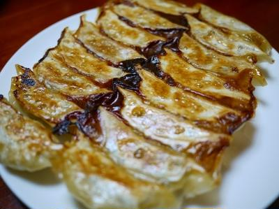 味噌餃子 と バンバンジー
