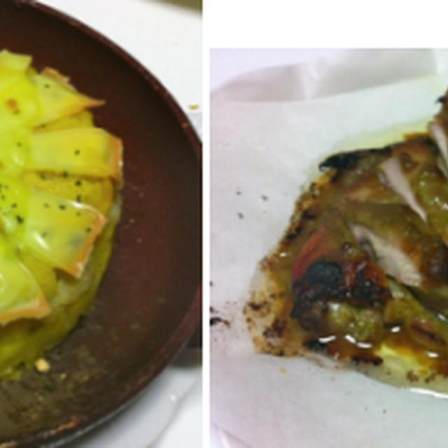 タラとポテトのノルウェー風?、鶏のネギ味噌焼き、紫芋とカボチャの味噌汁