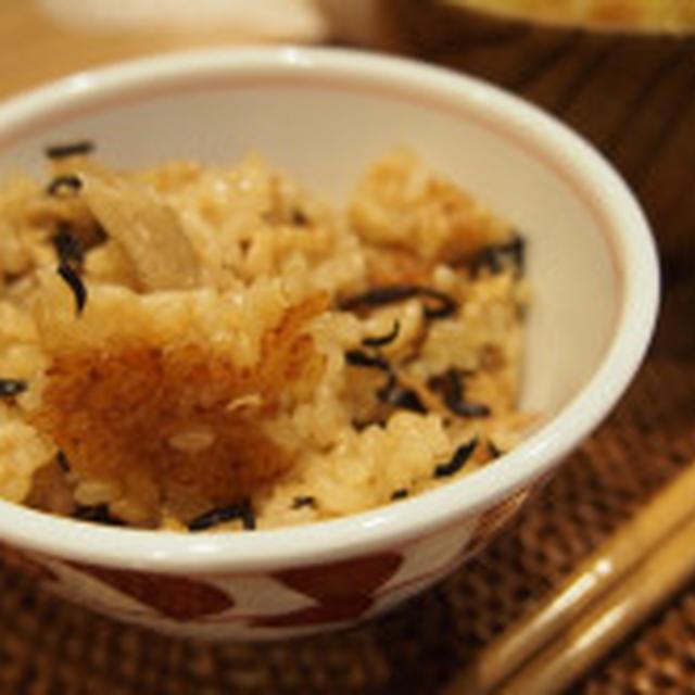 玄米のひじきとツナの炊き込みご飯