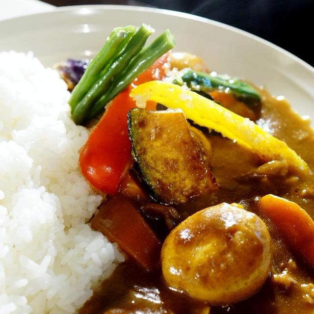 「THE.朝ご飯」夏野菜のカレー/生野菜/自家製 赤紫蘇ドリンクツイスパソーダ割り他