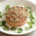 クスクスとカラフル野菜のチョッパーサラダケーキ by サリアさん