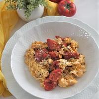 トマトとふわふわ卵の炒め物