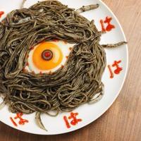 イカスミスパゲティでバックベアードを作る!