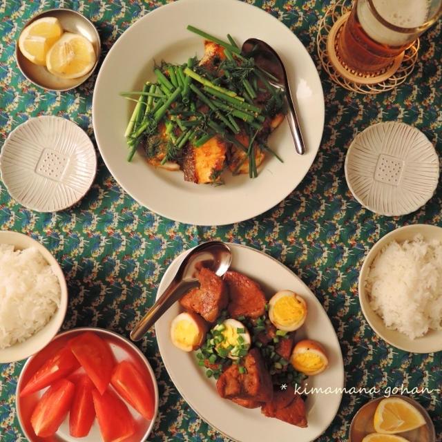Cha ca(チャー・カー)とベトナム風角煮。