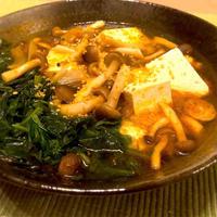 深夜メシ♪ほうれん草入りトムヤムスープ