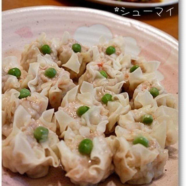 かに玉&手作りエビシュウマイde中華夕食(レシピつき)