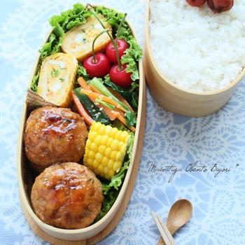 夏☆鶏つくねのお弁当♪