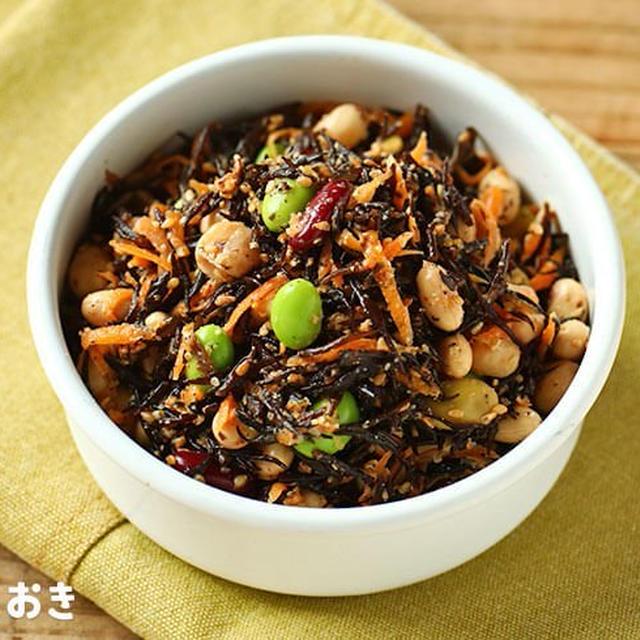 お豆とひじきの健康サラダ