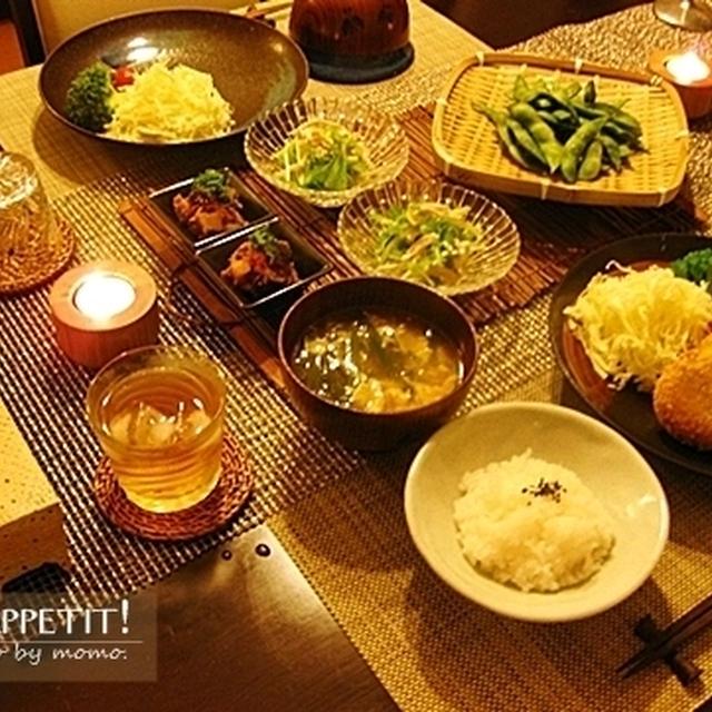旬の食材で、夕ご飯♪昔懐かしい、南瓜の肉味噌コロッケ