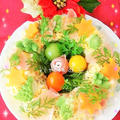 野菜たっぷりポテトサラダのリース仕立て