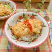 ハーブとソーセージのオムレツ丼