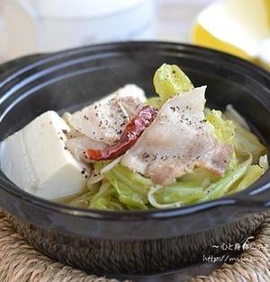 豚バラキャベツのスタミナスープ鍋