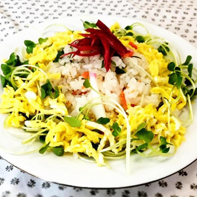 我家の夕食 塩鮭のちらし寿司