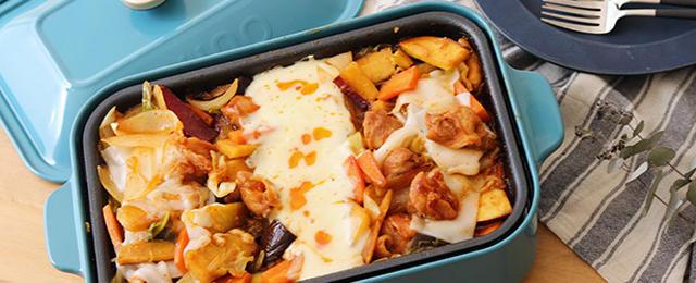 話題のチーズタッカルビも!BRUNOのホットプレートで作る、野菜たっぷりあたたか料理2種
