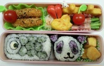 飾り巻き寿司 こいのぼり パンダ弁当~~♪