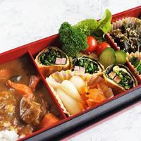 ■デイリー春のお弁当【作り置き活用で カレーライスと季節の副菜です♪】