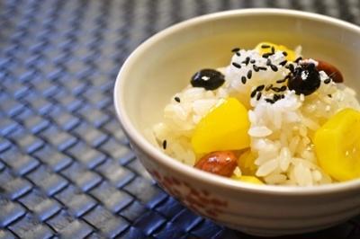 【栗の甘露煮と煮豆で 栗おこわ】デパ地下で人気のあの味を再現