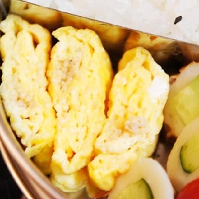 世紀末弁当救世主伝説、うめたら卵焼き、チクワのキュウリ詰め弁当