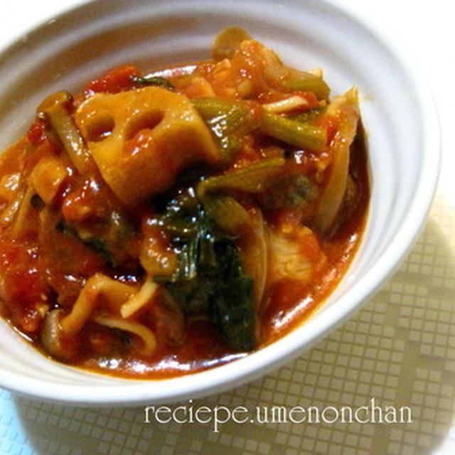 アサリと小松菜の具たくさんトマトスープ☆大盛り1食分212kcal☆dietrecipe