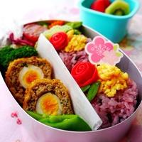 幼稚園のお弁当(年中さん)☆雛祭り弁当