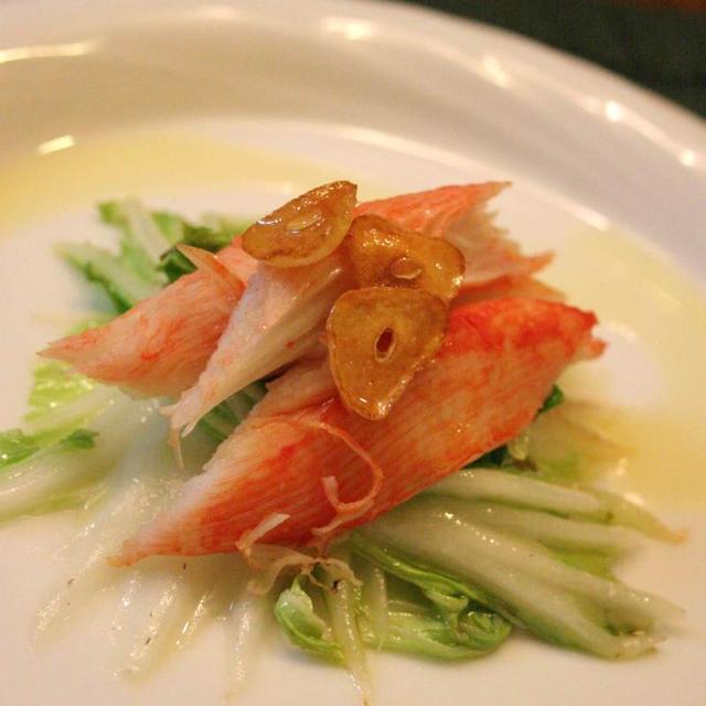 先取りクリスマス(っぽい)ディナー☆カニかまと白菜のオードブル風