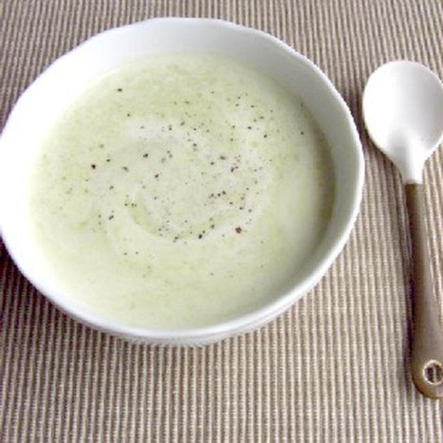 パステルグリーン♪そら豆のスープ