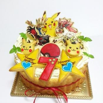 (721)*オーダーケーキ☆ポケモンのバースデーケーキ*