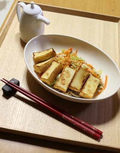 厚揚げと野菜のポン酢炒め