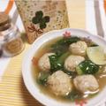 青梗菜と肉団子の煮込み(パズーの肉団子)