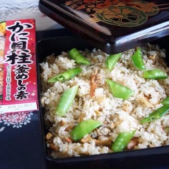 ■簡単美味しい!!炊き込みご飯【丸美屋かに貝柱釜飯の素使用です♪】