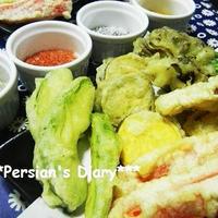 フルール・ド・セルで4種のお塩~野菜の天ぷら♪