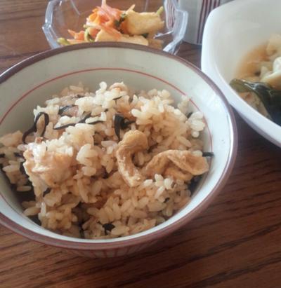 【ひじきの炊き込みご飯】とお豆腐屋さん