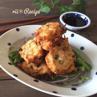 節約ヘルシーレシピ*玉ねぎシャキシャキ!鶏むね肉と豆腐のふわふわ揚げ