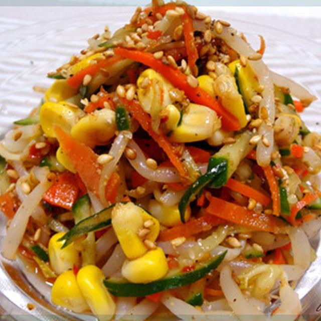 ピリ辛中華風ごま酢和えサラダ