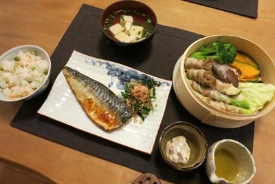 塩鯖&蒸し野菜など和の晩ご飯 と 6月に家庭菜園♪