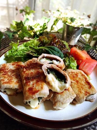 豚肉大葉チーズ焼き と 今日のイチオシ!
