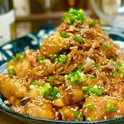 【レシピ】鶏肉とえのきの甘辛おかか炒め