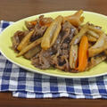 【サクッ!シャキ!奏でる食感 甘辛レシピ】牛肉と根野菜の味噌豆板醤炒め