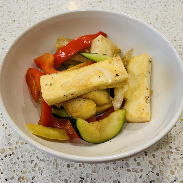 高野豆腐と野菜の甘酢炒め