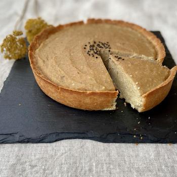 Veganレシピ。ヘルシーケーキ、スイートポテトタルトの作り方