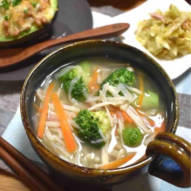 【レシピ】切り干し大根の塩麹スープ#おかずスープ#デトックス効果#腸活#美肌#ビタミンミネラル補給
