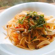 しめじと大葉の味噌バタースパゲティ