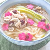 さっぱりだけど旨いっ!ミニ白菜と豚バラしゃぶしゃぶの梅うどん。