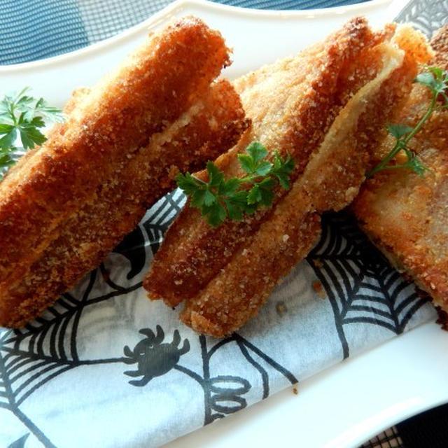 大きいスライスチーズでモッツァレッラ・イン・カロッツァ風